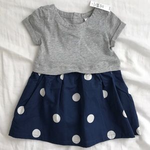 Gap cotton dot dress